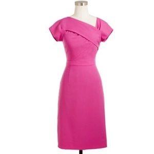 J Crew Origami Sheath wool dress pink 2